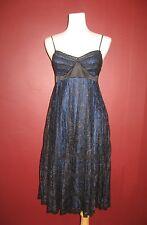 Betsey Johnson Betsy US 2 royal blue black lace overlay cocktail dress