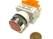 1 Piece Red Latching Push Button Switch Normally Open Closed 22mm On Off C40