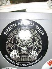 Simons Speed Shop sticker for Hot rods, Gasser, Rat Rods