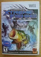 SHIMANO XTREME FISHING NINTENDO WII COMPLETE VIDEO GAME