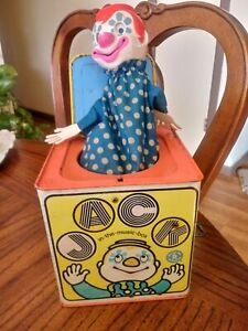 VINTAGE MATTEL 1968 CLOWN CIRCUS THEME JACK IN THE BOX  -NOT WORKING