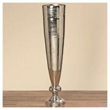 XXXL vaso romano 139cm ALLUMINIO Raw Nichel Argento PAVIMENTO VASO Dekovase Alu NUOVO