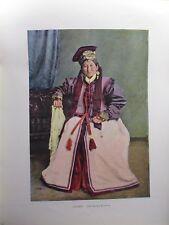 Caucase&Asie centrale/Gravure 19°in folio couleur/Une princesse Kalmouke