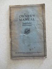 Original 1930s Studebaker Dictator automobile owner's manual