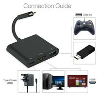 Black USB Type C To HDMI Adapter Converter 1080P For Nintendo Switch Smartphone