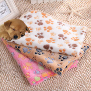 Pet Cat Dog Paw Print High Double-sided Fleece Soft Blanket Small Medium Large