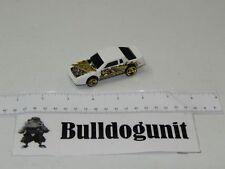 Hot Wheels 1988 White Chevy Stocker Yellow Jacket Car Thailand Mattel