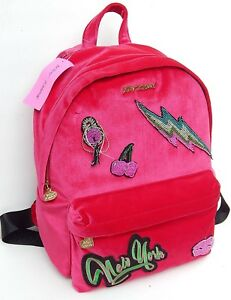BETSEY JOHNSON BABY'S GOT BACK FUSCHIA BACKPACK AUTHENTIC NEW