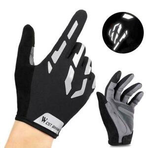 Cycling Gloves Full Finger Reflective Bicycle Bike Adult Sports Outdoor E2B3