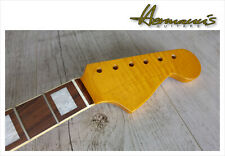Stratocaster Canadian Flamed Maple Neck mit M.o.P. Dots, Bindings Sonderpreis#JD