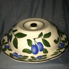 Covered Serving Waffle Pancake Entree German Czech Plum Matches Canister 30's