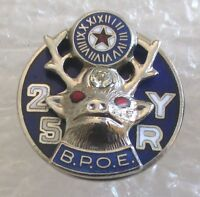 Very Nice Benevolent and Protective Order of Elks 25 Year Member Award Pin-BPOE