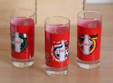 COCA COLA OLANDA ITALIA GERMANIA 3 BICCHIERI GLASSES UEFA - EURO 2012