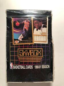 1990-91 Skybox NBA Basketball Factory Sealed Box 36 Packs Michael Jordan