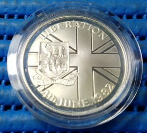 1982 Falkland Islands 50 Pence Liberation Commemorative Silver Proof Coin