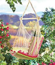 Swinging Chair Hammock Cotton Canvas Cushioned Seat Fun Practical Usful