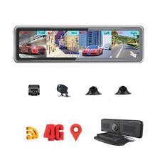 4 cameras recording Android 9.0 mirror dash camera video recorder dashboard DVR