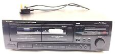 TEAC W-600R Stereo Twin Deck Double Cassette Tape Dolby System Auto Reverse