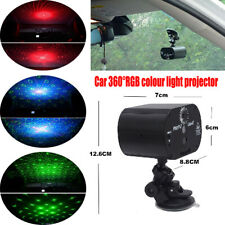 1x 360 ° Rotating Bracket USB Car Roof Lamp Night Light RGB Color Control Switch