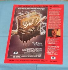 vintage Continental Video advertisement brochure DEADTIME STORIES