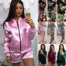 2Pcs Womens Tracksuit Hoodies Sweatshirt Pants Sets Sport Loungewear Casual Suit