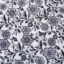 Black & White Small Jacobean Floral, Northcott Cotton, Per 1/2 Yd