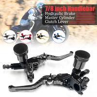 Pair 7/8'' Motorcycle Universal Hydraulic Brake Master Cylinder Clutch