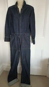 MNG Mango Denim Boiler Suit Jumpsuit. L
