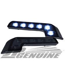 BENZ STYLE 6 LED DAYTIME RUNNING HEADLIGHTS BUMPER FOG LIGHTS BLACK - UNIVERSAL