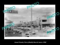 OLD LARGE HISTORIC PHOTO OF ARARAT VICTORIA VIEW OF BARKLY ST & STORES c1960