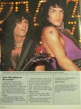 Kiss, Dio, Double Full Page Vintage Clipping