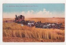 Harvesting Scene Combined Header & Thresher USA 1912 Postcard US073