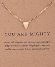 Strength Necklace Triangle Pendant Gold Dipped Meaning Card You Are Mighty