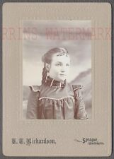 Vintage Cabinet Photo Cute Girl in Sprague Washington WA 711086