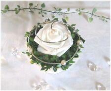 Tischdeko III Tischdekoration Hochzeit, Taufe, Kommunion, Tischgesteck weiß