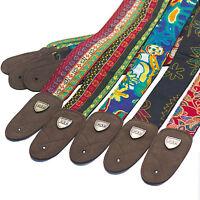 Folk Style Jacquard Woven Acoustic Electric Guitar Strap Belt Retro Hippie Band