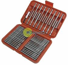 50 Pc Extra Long Security Bits Hex Star Torx Spline Flat Screwdriver Bit Set