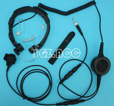 Military Throat Mic Headset/Earpiece Uniden Radio UH076DLX UH074SX