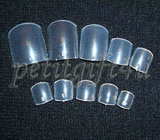 500 pcs FALSE FULL TOE NAIL TIPS /NAIL ART ~ CLEAR