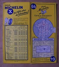 carte MICHELIN 64 ANGERS - ORLEANS 1961