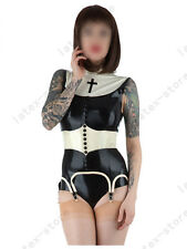 478 Latex Rubber Gummi Nun Top shirts shorts suspenders garters customized 0.4mm
