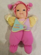 """Goldberger Baby's First LOVE BUG Soft Plush Doll MULTICOLOR 10.5"""" Vinyl Face"""