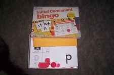Vintage 1987- Initial Consonant Bingo Classroom School 3-36 Players