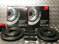 FRONT DRILLED & GROOVED BRAKE DISCS Mitsubishi L200 2.5 DiD Front 294mm