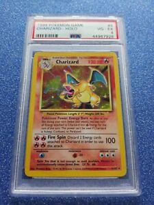 Wotc Pokemon Cards PSA 4 Base Set Holographic Charizard 4/102 very rare