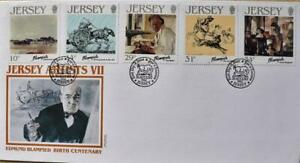 """Jersey Stamps """"Jersey Artists VII - Edmund Blampied"""" First Day Cover 1986"""