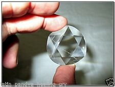 Jet Genuine Crystal Quartz Star of David A++ Chakra Wealth Protection Radionic