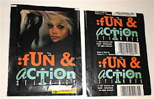 FUN & ACTION STICKERS 1991 Panini Italy stickers pack - bustina figurine