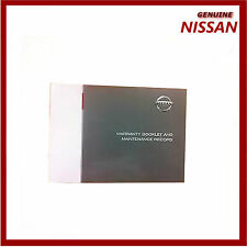 Genuine Nissan Blank Service Book Maintenance Guide For All Models. 9999901NWB