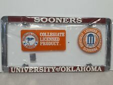 Oklahoma Sooners Metal License Plate Frame - Officially Licensed - Thin